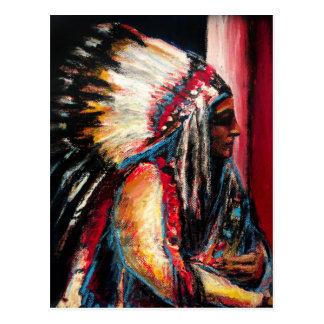 Sitting Bull in Color Postcard
