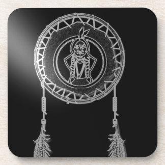 'Sitting Bull in Moonlight' Beverage Coaster