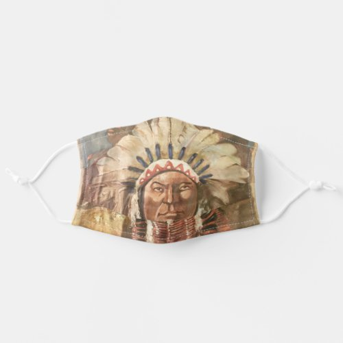 Sitting Bull Indian Cloth Face Mask
