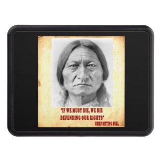 SITTING BULL  LAKOTA SIOUX TRAILER HITCH COVER