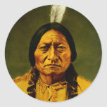 Sitting Bull Native American Indian Chief Classic Round Sticker