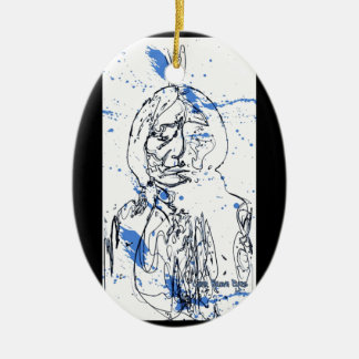 Sitting Bull - Original Design by Lance Brown Eyes Ceramic Ornament