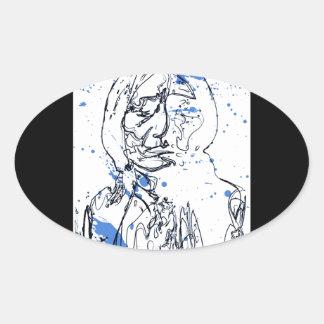 Sitting Bull - Original Design by Lance Brown Eyes Oval Sticker