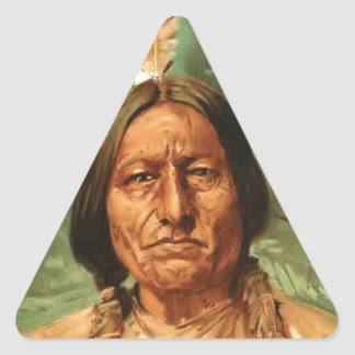 Sitting-Bull painted by William Gilbert Gaul 1890 Triangle Sticker