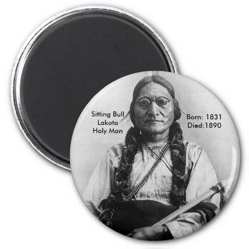 Sitting Bull Refrigerator Magnets