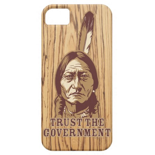 Sitting Bull Satire Phone Case iPhone 5 Case