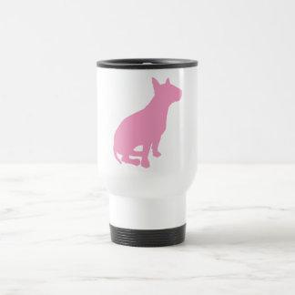 Sitting Bull Terrier (pink) 15 Oz Stainless Steel Travel Mug