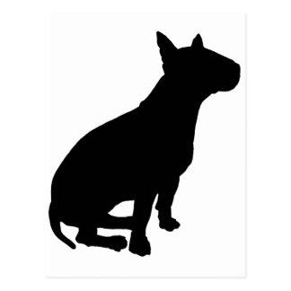 Sitting Bull Terrier Postcard