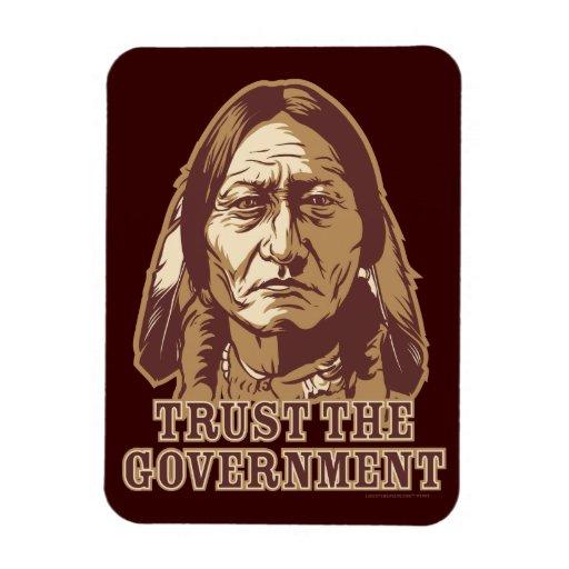 Sitting Bull Trust The Government  Flexi Magnet