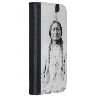 Sitting Bull Wallet Phone Case For iPhone 6/6s