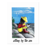 Sitting by the Sea Postcard
