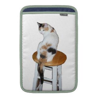 Sitting Calico Cat MacBook Sleeve