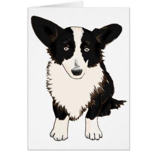 Sitting Cardigan Welsh Corgi Illustration Greeting Card