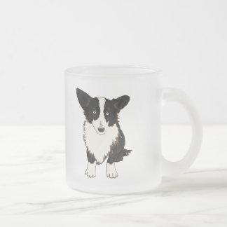 Sitting Cardigan Welsh Corgi Illustration Frosted Glass Coffee Mug