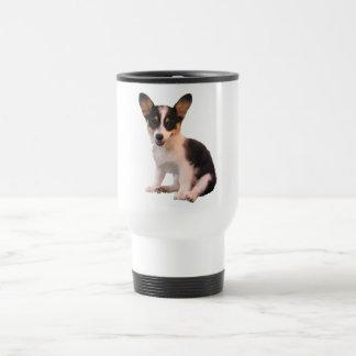 Sitting Cardigan Welsh Corgi Puppy 15 Oz Stainless Steel Travel Mug