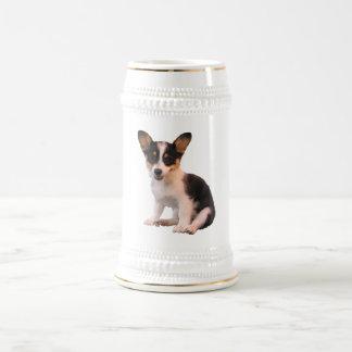 Sitting Cardigan Welsh Corgi Puppy 18 Oz Beer Stein