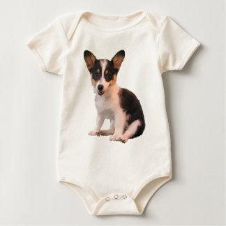 Sitting Cardigan Welsh Corgi Puppy Baby Bodysuits