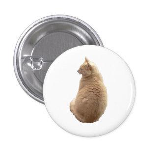 Sitting Cat 1 Inch Round Button