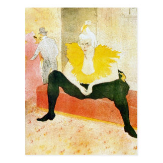 Sitting Clown by Toulouse-Lautrec Postcard