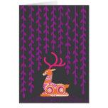sitting deer greeting card