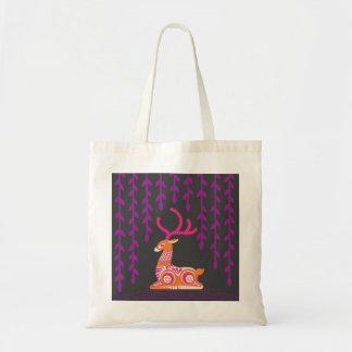 sitting deer tote bag