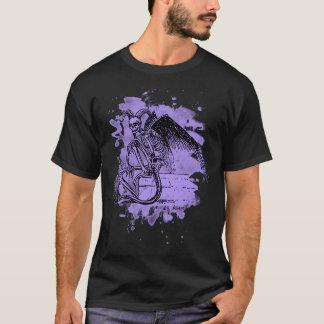 Sitting Demon - bleached violet T-Shirt