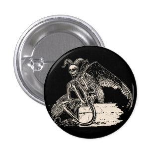 Sitting Demon Pinback Button