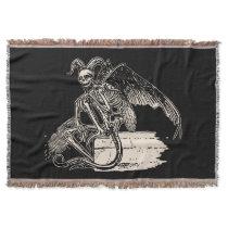 Sitting Demon Throw Blanket