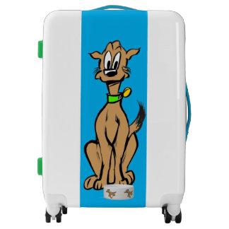 Sitting Dog Cartoon Luggage Suitcase