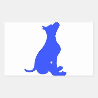 Sitting Dog Rectangular Sticker