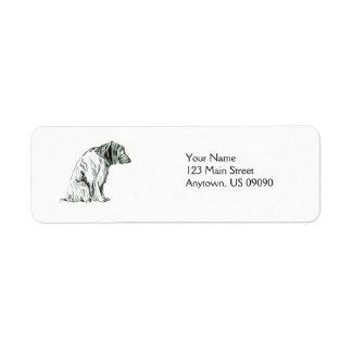 Sitting Dog Return Address Label