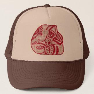 Sitting elephant trucker hat