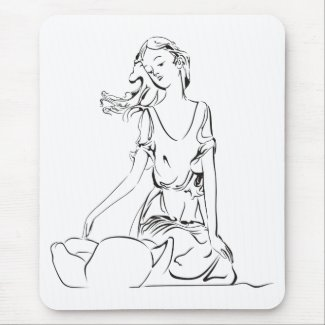 Sitting Fairy… Mouse Pad