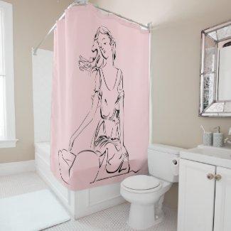 Sitting Fairy Shower Curtain