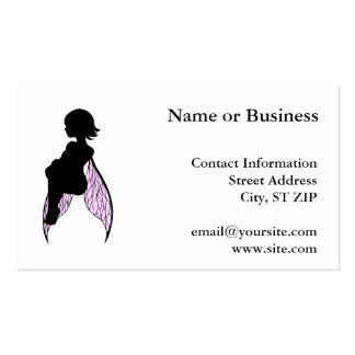 Sitting Fairy Silhouette Double-Sided Standard Business Cards (Pack Of 100)