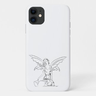 Sitting Fairy with Wings... iPhone 11 Case