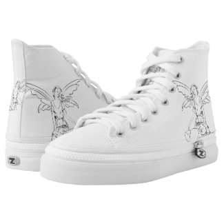 Sitting Fairy with Wings... High-Top Sneakers