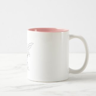 Sitting Fairy with Wings… Two-Tone Coffee Mug