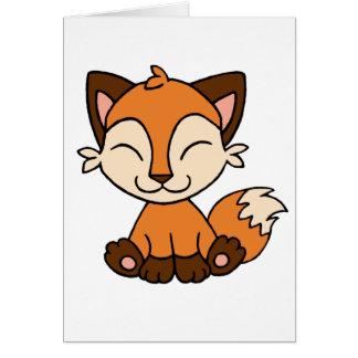 Sitting Fox Card