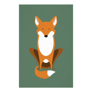 Sitting Fox Stationery