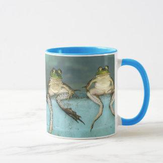 Sitting Frogs Mug