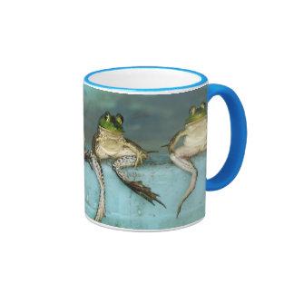 Sitting Frogs Ringer Mug