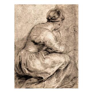 Sitting girl by Paul Rubens Postcard
