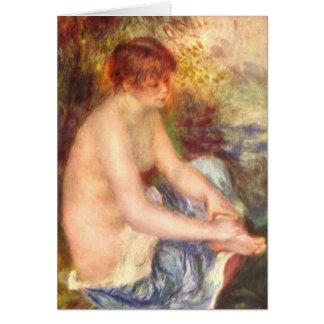 Sitting Girl - Pierre-Auguste Renoir Card