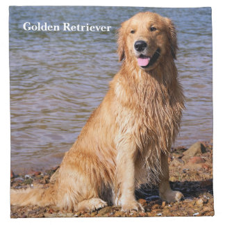 Sitting Golden Retriever Napkin