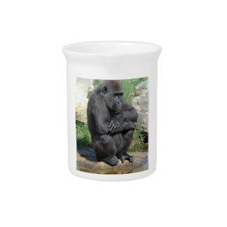 Sitting Gorilla  Pitcher