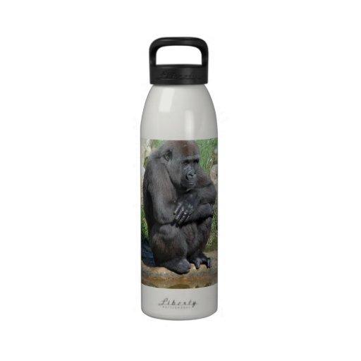 Sitting Gorilla Water Bottle