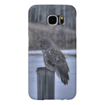 Sitting Great Gray Owl Wildlife Photo Portrait III Samsung Galaxy S6 Case