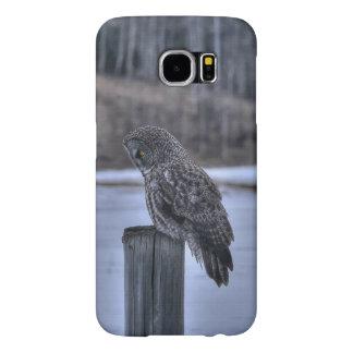 Sitting Great Gray Owl Wildlife Photo Portrait III Samsung Galaxy S6 Case