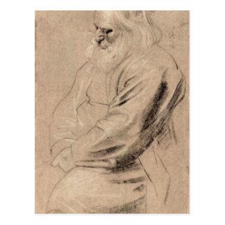 Sitting Greis by Paul Rubens Post Card